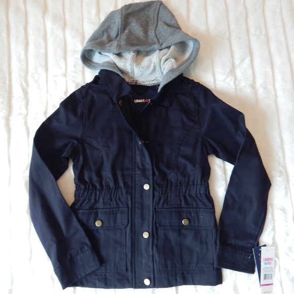 Limited Too Other - Limited Too Girls Hooded Twill Jacket Black